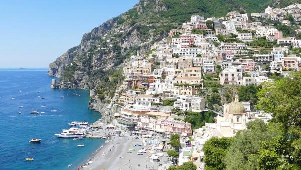 Die Ort Positano an der Amalfiküste
